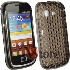 Cover Custodia Silicone Gel TPU Nero Per Samsung Galaxy Pocket S5300 + Pellicola