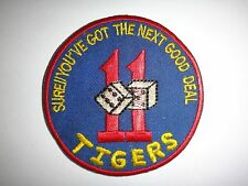 "Vietnam War Patch US 11th TIGERS Team ""SURE YOU'VE GOT THE NEXT GOOD DEAL"""