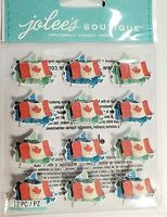 Canadian Flag Repeatd Maple Leaf Canada HTF Jolee's 3D Stickers
