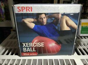 "SPRI XERCISE BALL 65cm Red Ideal 5'8"" To 6'3"""