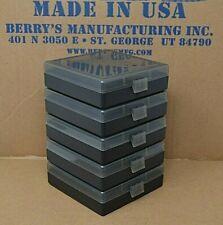38 / 357 Berry Ammo Boxes 100 Round Storage & Reloading (5-Pack Smoke /Black)