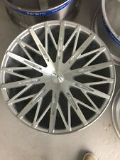 "22"" ZENETTI DROHNE WHEELS & TIRES SILVER CONCAVE FITS ALL 5 LUG VOSSEN GIOVANNA"