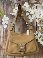Coach Legacy 9340 Butterscotch Leather Slim Flap Hobo Saddle Bag