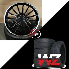 "19"" 787 Style Machined Black Wheels w Tires Fits Mercedes AMG C CLA CLK E Class"