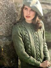 "L75 Knitting Pattern - DK Pattern Panel Lady's Jumper - 5 Sizes- 32-40"" Chest"