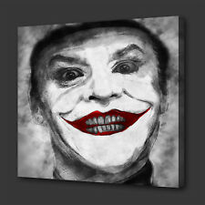 JOKER RED LIPS ICONIC FILM GRUNGE STYLE MODERN WALL ART PICTURE CANVAS PRINT