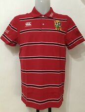 BRITISH AND IRISH LIONS RED JERSEY STRIPE POLO BY CANTERBURY SIZE ADULTS XXL
