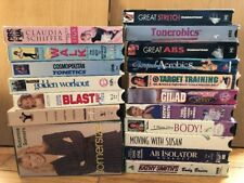 18 Workout VHS Lot Aerobics Walking Exercise Tamilee Schiffer Gilad Fitness Tony