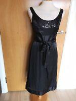 Ladies MONSOON Dress Size 10 Black Sparkle Party Evening Smart
