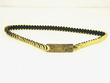 "VTG 70'S GOLD METAL EXPANDABLE BELT-25"" TO 38"" JEANS CLOTHING SHOES ACCESSORIES"