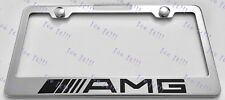 MERCEDES AMG Stainless Steel License Plate Frame Rust Free W/ Bolt Caps
