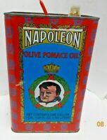 Vintage Napoleon Olive Pomace Oil Empty Tin 1 Gallon Product of Greece