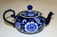Pier 1 Mandarin Teapot, Cobalt Blue and White Porcelain
