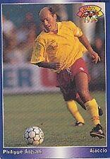 N°105 ANZIANI GAZELEC AJACCIO CARTE PANINI FOOTBALL 95 FRANCE CARDS 1995
