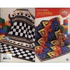 Just kidding crocheted afghans crochet pattern livret - 4 designs