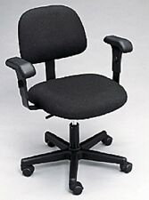 NEW Bailey Black Rolling Adjustable Task Chair with Glides and Arm Rest