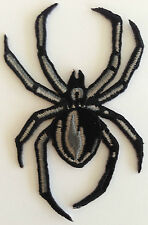 "Spiders Black Widow Embroidered iron-on Patch 3 1/4"" New"
