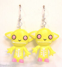 Harajuku Japan The Gooli Monsters Yellow Skellbo Mini Art Toys Dangle Earrings