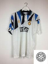 Retro INTER MILAN 91/92 Away Football Shirt (L) Soccer Jersey Umbro