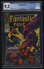 Fantastic Four #76 CGC 9.2 W Pgs FF Silver Surfer Galactus Marvel Comics Silver