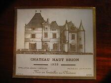 etiquette haut brion 1939