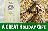 SISTERS TOFFEE $25 ONLINE Gift Card - GOURMET chocolate! GREAT HOLIDAY GIFT!