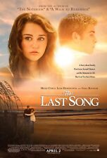 MILEY CYRUS LIAM HEMSWORTH THE LAST SONG 27X41 AUTHENTIC DOUBLE SIDED POSTER
