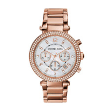 Michael Kors MK5491 Parker Chronograph Watch With Crystals-Rose Gold