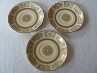 Johnson Brothers JB13 Victorian Gold Urns,Flowers,Scroll-Set of 3 Saucers