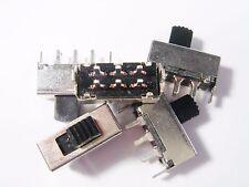 5 x Schiebeschalter Schalter 2xUM 250Vac 30V 0,5A Seiko Trading Company #3S73#
