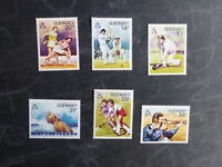 GUERNSEY 1986 SPORT SET 6 MINT STAMPS