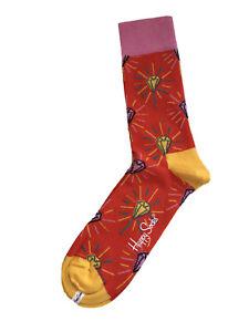 Happy Socks Unisex Pink Diamond Socken Größe 41-46
