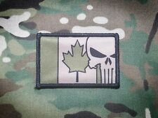 CANADA FLAG Punisher Skull Multicam Military Morale Patch Army Tan OD Green JTF2