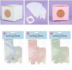 Single Individual Cupcake boxes Muffin Fairy cup cake window box quantity 6 -60