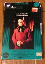 Vintage The Fall of the House of Usher VHS Vincent Price Warner Home Video