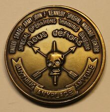 US Army John F. Kennedy Special Warfare Center Nous Defions Challenge Coin