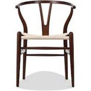 Wishbone (Y) Chair - CH24 - Walnut - Natural Cord Inspired by:- Hans J. Wegner