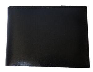 PRINCE GARDNER Black Genuine Leather Men's Bifold Wallet NWOT