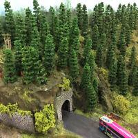 TC50 50pcs Model Train Layout 1:150 Trees N Scale Green Trees 50mm