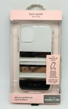 Kate Spade Defensive Hardshell Case for iPhone 11 Pro - Park Stripe/Gold/White