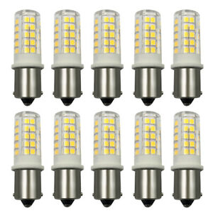 10x BA15S 1156 LED Lights Car/Boat/Solar/Sailboat 12V Light Bulb 64-2835 Lamp