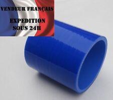 Durite Silicone Droite 0°, SC SPORT, 38 mm int. lg.76 mm, Bleu, VENDEUR FRANCAIS