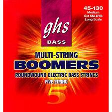 GHS 5MDYB Medium Boomers Electric Bass 5 String Set (45-130)