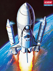 Academy 12707 Space Shuttle With Booster 1/288 Scale Plastic Model Kit