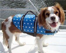 Preserver Vest 20 - 50 lbs M Medium - Paws Aboard Blue Polka Dot Dog Life Jacket