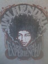 Jimi Hendrix Are You Experienced 1967 Concert Gray L T-Shirt Music
