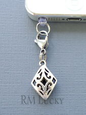 ONE Rhombus cell phone Charm Dust proof Plug ear jack For iPhone smartphone C221