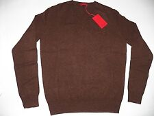"PRINGLE of Scotland LION Cashmere Wool blend V neck Sweater S 38"" Brown Melange"