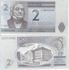 ESTONIA EESTI 2 KROONI 2007 FDS UNC EX URSS CCCP