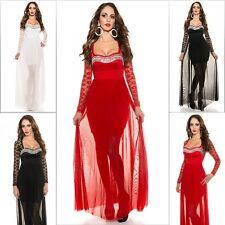 Koucla Cocktail Kleid Abendkleid Minikleid Maxi Dress Spitze Strass